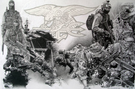 quotnavy seal team posterquot military art posters by dick kramer