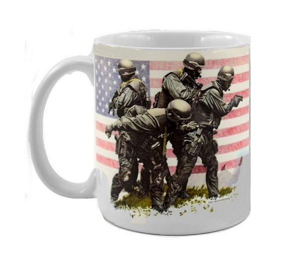 "11 oz COFFEE CUP- ""Homeland Heroes""  Item # 1904-C"